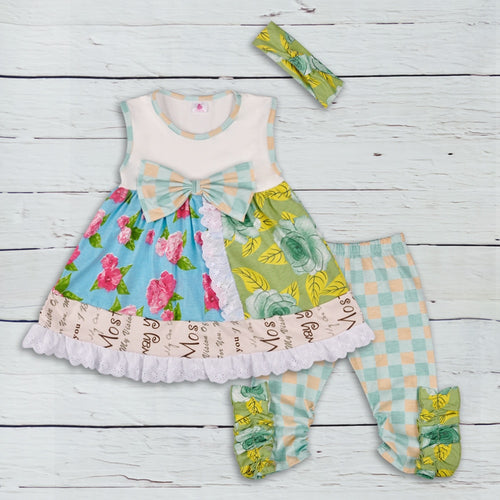 Flower Basket Dress and Leggings