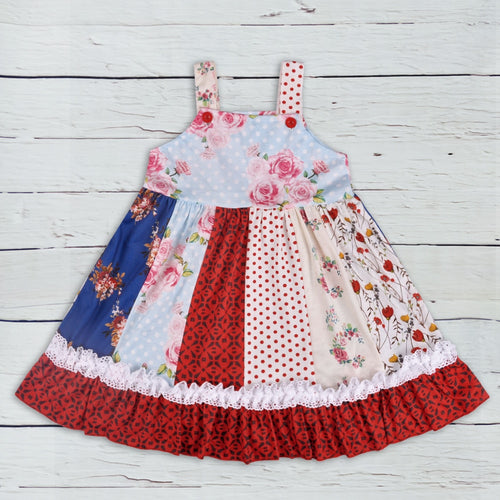 Cosmos Garden Patch Dress