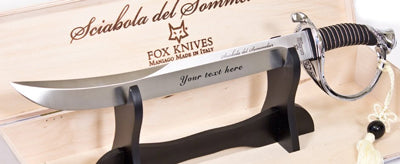 Fox Champagne Sabre Engraved