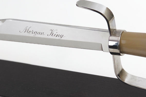Berkel Champagne Sabre Blonde Horn Handle Hand Engraved 35805329