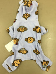 Silly Monkey Fleece Pajamas Lavender