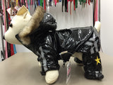 Monkey Daze Snow Suit In Black Vinyl