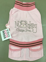Monkey Daze Pink Dress With Pockets and Studs Small