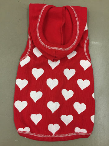 Red Heart Tank Hoodie by I See Spot