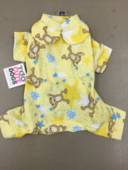 Yellow Monkey Star Pattern Pajamas