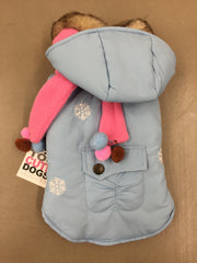 Blue Puffer Parker with Fleece Scarf and Lining by Monkey Daze