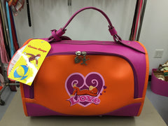 Pet Flys Curious George Dog Carrier in Pink and Orange