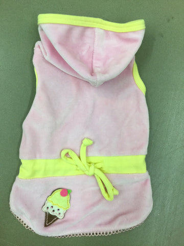 Sorbet Velour Dress Ruff Ruff Couture With Matching Bow