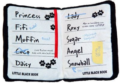 Little Black Book Dog Toy