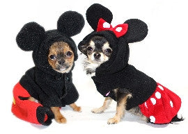 Mickey and Minnie Dog Costume