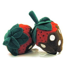 Chocolate Dipped Strawberry Dog Toy