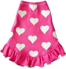 Pink Taffy Heart  Tank Dress