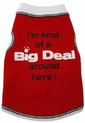 Big Deal Around Here Dog Tank