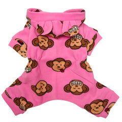 Silly Monkey Fleece Pajamas Pink