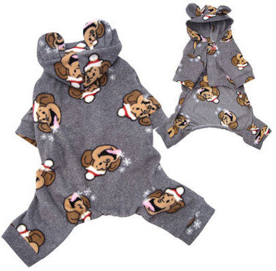 Silly Monkey Fleece  Santa Pajamas