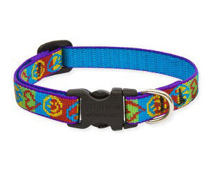 Lupine Peace Pup Dog Collar 3/4""