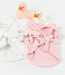 Pink Chenille Dog Bath Robe