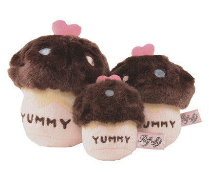 Yummy Cupcake Chocolate dog Toy