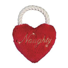 Holiday Naughty Heart Tug Toy