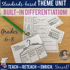 Theme TRESmart Unit - Standards-based ELA Unit with Built-In Differentiation