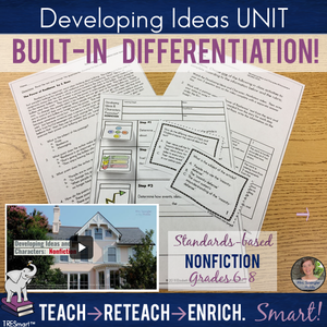 Developing Ideas (NONFICTION) TRESmart™ Unit with Pixanotes®, Quiz, Activities
