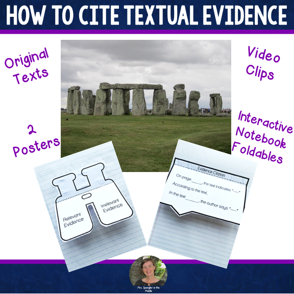 How to Cite Textual Evidence: Texts, INB, Posters, Video Clips