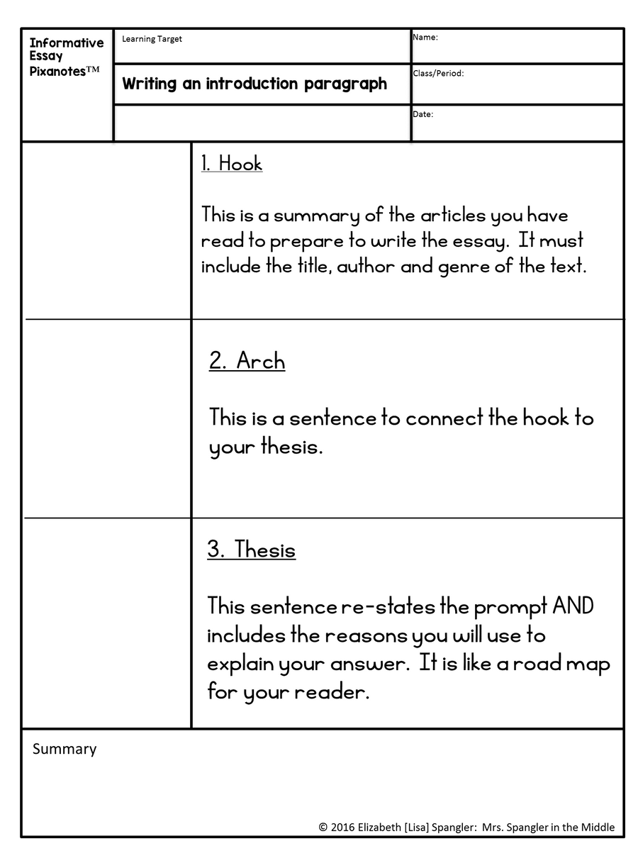 English Essay Introduction Example  Essay On Science And Society also English Argument Essay Topics Informative Essay Pixanotes Text Based For Grades  With Games  More Essay About English Language