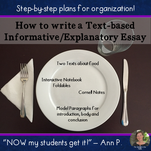 Informative Text-Based Essay Writing - with texts, Cornell notes & Interactive Notebook Foldables!