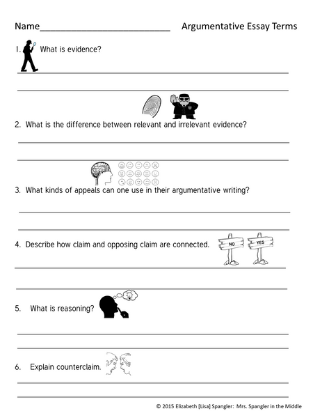 Argumentative Writing Pixanotes® (Picture Notes) + 2 Dominoes Games!