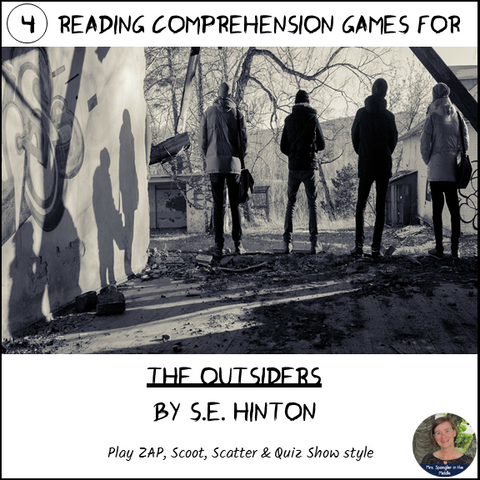 The Outsiders reading comprehension GAMES ~ 4 in 1!