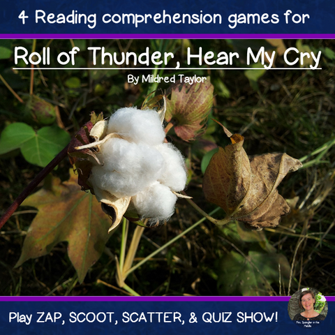 Roll of Thunder, Hear My Cry reading comprehension GAMES
