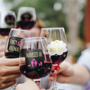 Lulu & You Bachelorette Party Wine Glass Drink Markers
