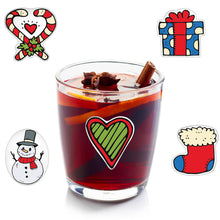 Load image into Gallery viewer, Christmas Wine Glass Drink Markers