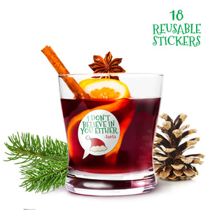 Funny Christmas Wine Glass Drink Markers