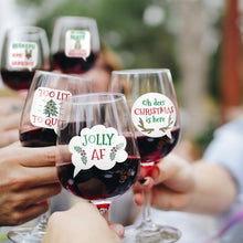 Load image into Gallery viewer, Funny Christmas Wine Glass Drink Markers