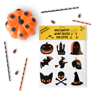 Helloween Party Wine Glass Markers