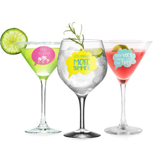 Summer Party Wine Glass Markers