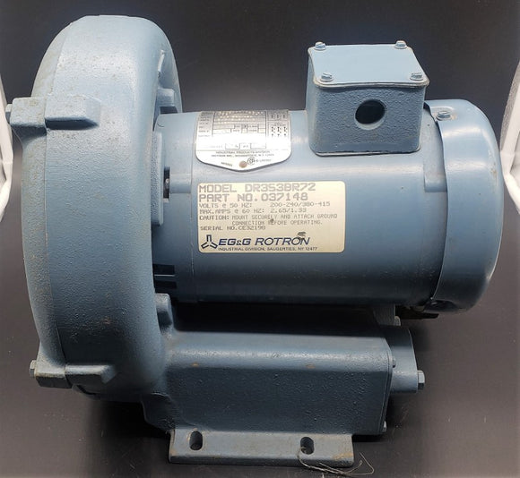 Ametek/EG&G DR353BR72 Rotron Regenerative Blower .75HP, P/N: 037148