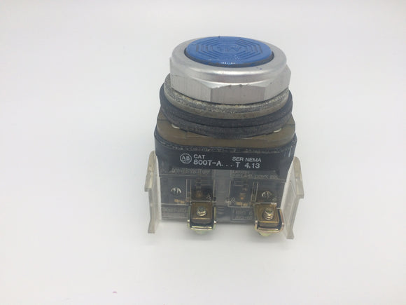 Allen Bradley Push Button w/ contact block, P/N 800T-A-ST-800T-XD1-SD
