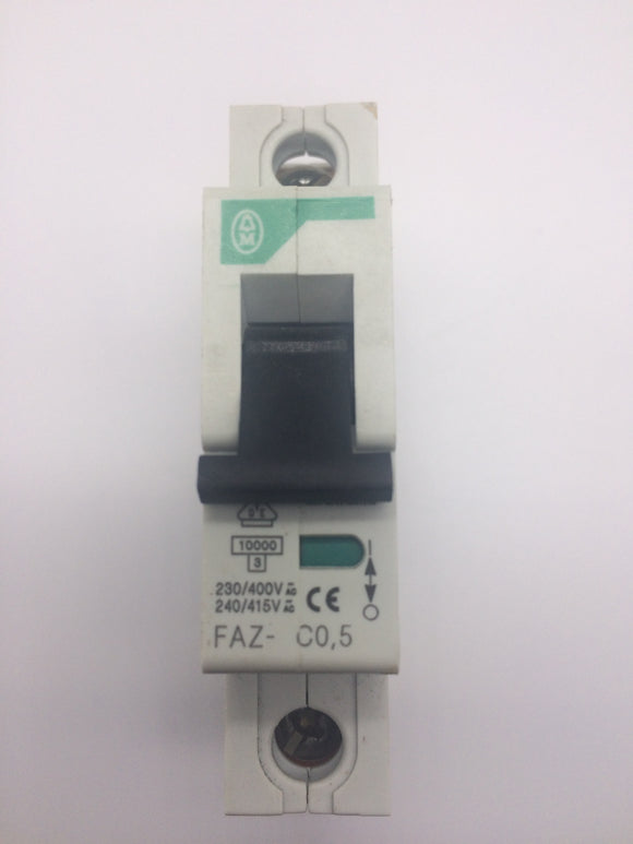 Moeller Electric .5 Amp - 1 Pole- 230/400V Circuit Breaker - FAZ-C0-5