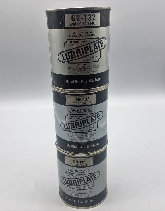 NEW LUBRIPLATE GR132 14oz PORTABLE TOOL GREASE - LOT OF 3
