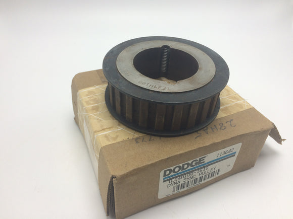 NEW DODGE BUSHING BORE TIMING BELT PULLEY P/N 113642, TL24H100