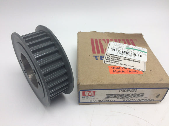 NEW TB WOODS HTD BELT SPROCKET, P/N P308M20