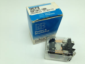 NEW POTTER & BRUMFIELD RELAY, 120V, 5A, 8 PINS, P/N KUP11A11-120V