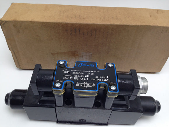 NEW COLUMBIA DIRECTIONAL CONTROL VALVE, P/N 3500004 X410
