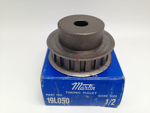 NEW MARTIN BUSHING BORE TIMING BELT PULLEY, P/N 19L050