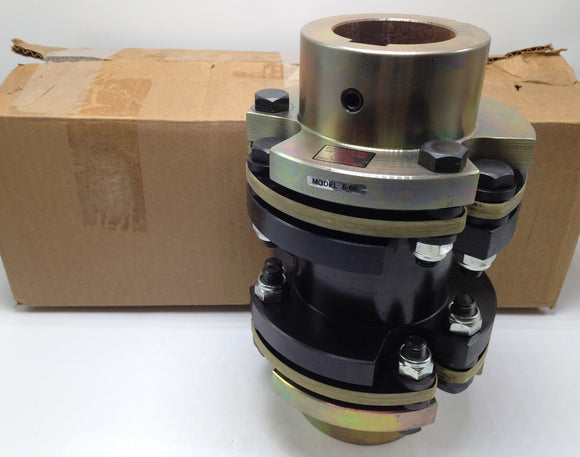 NEW ZERO-MAX CD COUPLING, 60MM BORE, 1.876 IN BORE, 6 IN SPACER, 6S60, P/N 6-60
