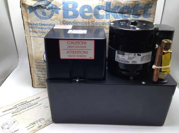 NEW BECKETT CORP THERMALLY PROTECTED CONDENSATE PUMP, P/N CB501UL