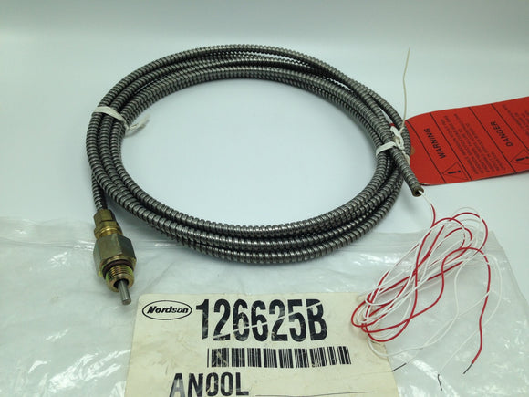 NEW NORDSON RTD TEMPERATURE SENSOR W/12 FT CORD, P/N 126625B