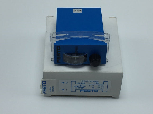 NEW FESTO PZVT-30-SEC TIMER 2-30 SECONDS 29-87PSI PN# 150238